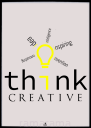 Grafika tekstowa №206 - THINK CREATIVE