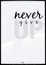 Grafika tekstowa №158 - NEVER GIVE UP