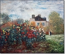 Monet's Garden At Argenteuil - Claude Monet
