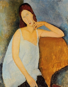 Portrait of Jeanne Hebuterne - Amadeo Modigliani